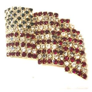 Kirks Folly Jewelry - Kirks Folly American Flag Brooch